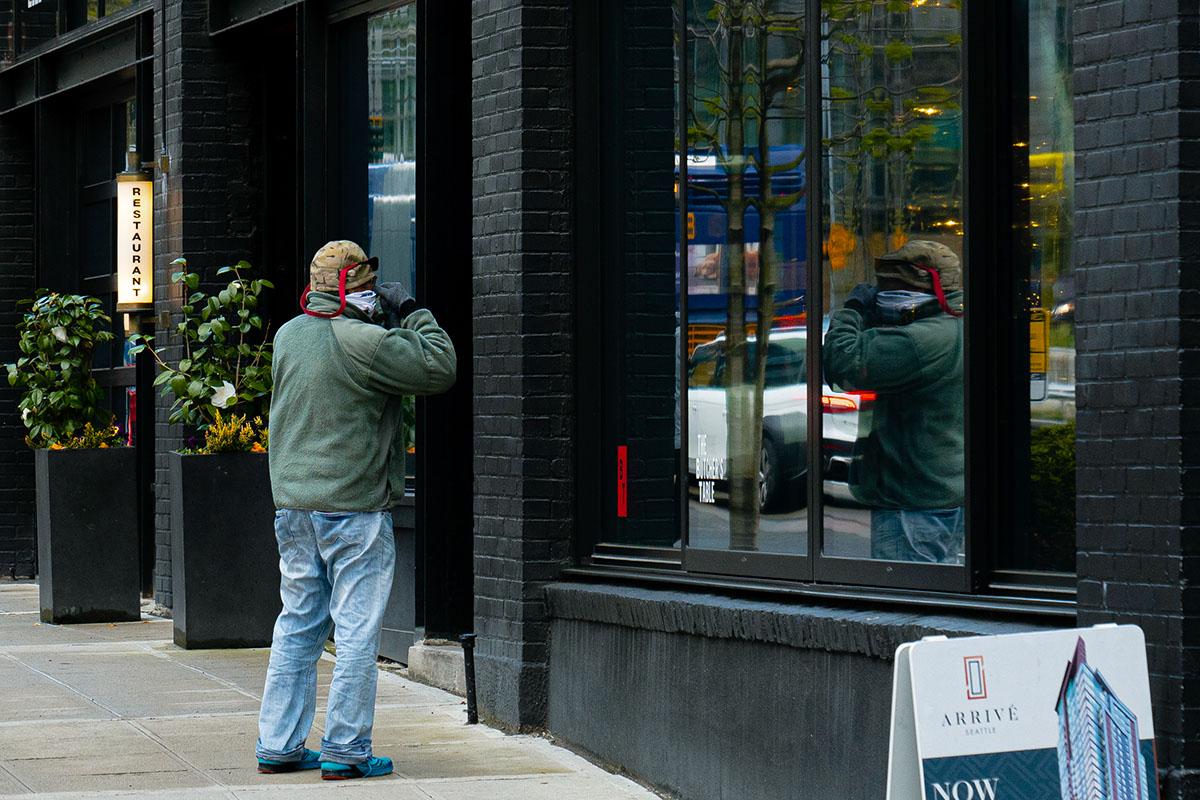 Covid quarantine city street photography