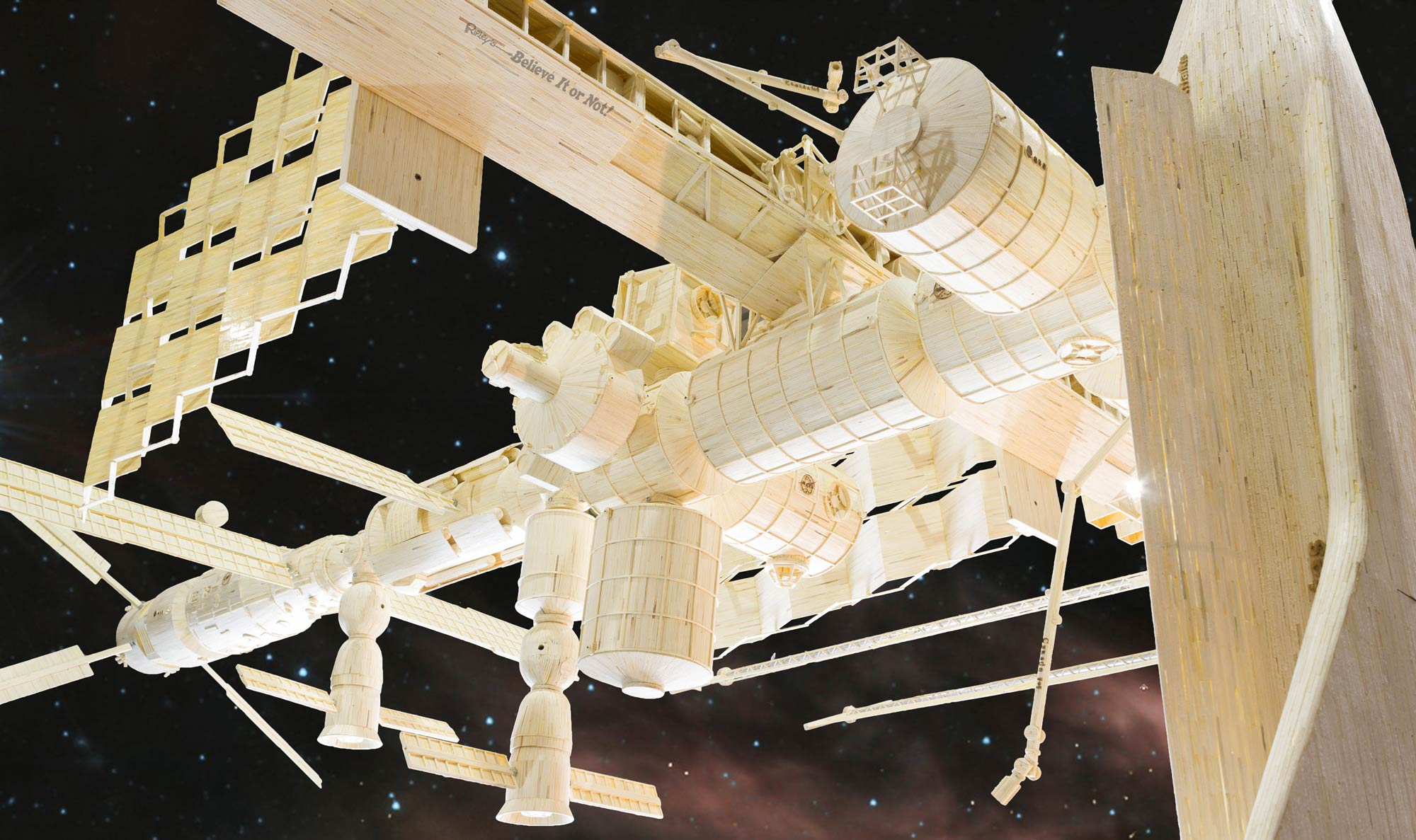 International Space Station Made of Matchsticks at Ripley's Believe It or Not
