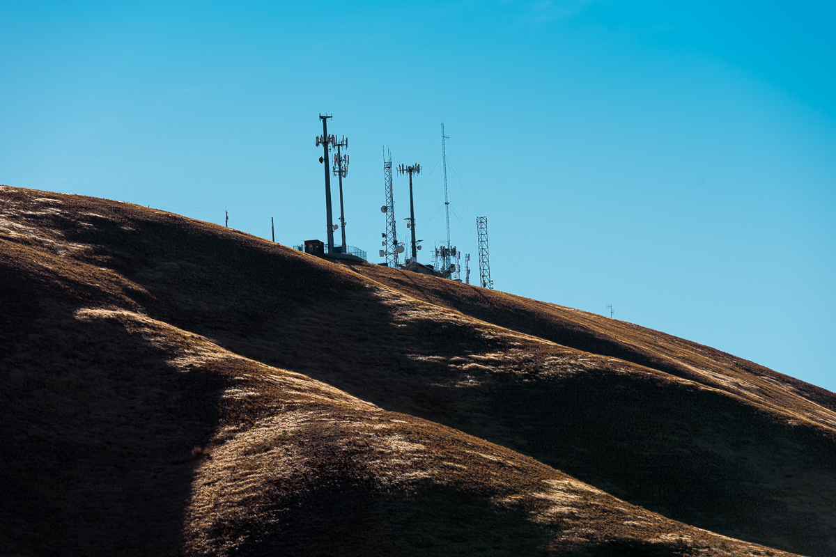 Rolling Mountains with antennas